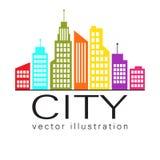 Logotipo de la ciudad, icono del web del edificio del vector Foto de archivo