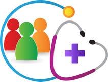 Logotipo de la clínica ilustración del vector