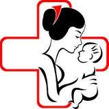 Logotipo de la clínica de reposo Imagen de archivo libre de regalías