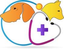 Logotipo de la clínica del cuidado de animales de compañía ilustración del vector