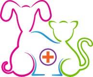 Logotipo de la clínica del animal doméstico Fotografía de archivo