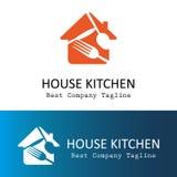 Logotipo de la cocina de la casa Fotografía de archivo