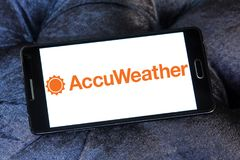 Logotipo de la compañía de AccuWeather fotografía de archivo