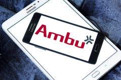 Logotipo de la compañía de Ambu fotografía de archivo