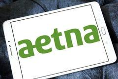 Logotipo de la compañía de la atención sanitaria de Aetna imagenes de archivo