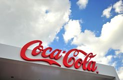 Logotipo de la compañía de Coca-Cola fotos de archivo