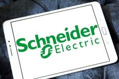 Logotipo de la compañía de la energía de Schneider Electric Foto de archivo