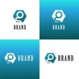 Logotipo de la compañía de la letra de G Imagenes de archivo
