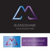 Logotipo de la compañía de la letra M Imagen de archivo libre de regalías