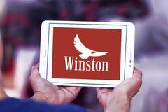 Logotipo de la compañía de los cigarrillos de Winston fotos de archivo