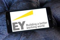 Logotipo de la compañía de los sevices de Ey Fotografía de archivo libre de regalías