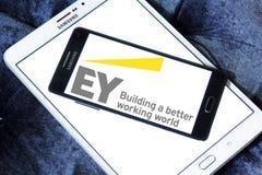 Logotipo de la compañía de los sevices de Ey Foto de archivo