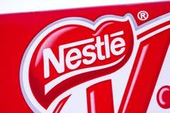 Logotipo de la compañía de Nestle Foto de archivo libre de regalías