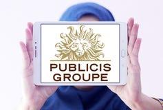 Logotipo de la compañía de Publicis Groupe fotos de archivo libres de regalías