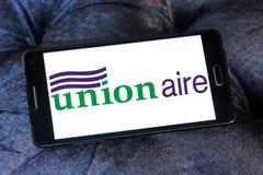 Logotipo de la compañía de Unionaire Imagenes de archivo