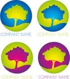 Logotipo de la compañía del árbol Fotos de archivo