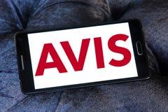 Logotipo de la compañía del alquiler de coches de AVIS imágenes de archivo libres de regalías