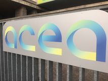 Logotipo de la compañía del balneario de Acea del italiano Fotografía de archivo libre de regalías