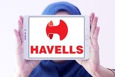 Logotipo de la compañía del equipo eléctrico de Havells fotografía de archivo libre de regalías