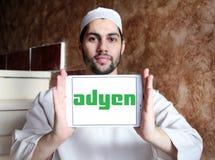 Logotipo de la compañía del pago de Adyen Foto de archivo