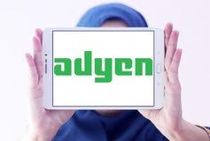 Logotipo de la compañía del pago de Adyen Fotografía de archivo libre de regalías