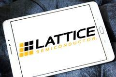 Logotipo de la compañía del semiconductor del enrejado fotografía de archivo