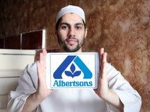 Logotipo de la compañía del ultramarinos de Albertsons fotos de archivo