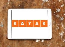 Logotipo de la compañía del viaje del KAJAK Imagen de archivo