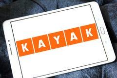 Logotipo de la compañía del viaje del KAJAK Foto de archivo libre de regalías