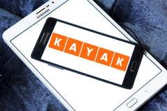Logotipo de la compañía del viaje del KAJAK Fotos de archivo