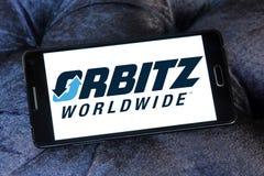 Logotipo de la compañía del viaje de Orbitz Imágenes de archivo libres de regalías