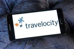 Logotipo de la compañía del viaje de Travelocity Foto de archivo
