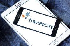 Logotipo de la compañía del viaje de Travelocity Fotos de archivo libres de regalías