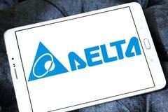 Logotipo de la compañía de Delta Electronics Fotografía de archivo libre de regalías