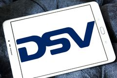 Logotipo de la compañía de DSV foto de archivo libre de regalías