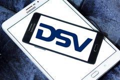 Logotipo de la compañía de DSV imagenes de archivo