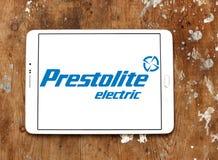Logotipo de la compañía eléctrica de Prestolite fotos de archivo libres de regalías