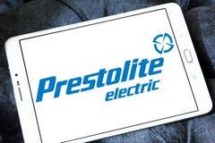 Logotipo de la compañía eléctrica de Prestolite imagenes de archivo