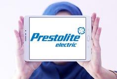 Logotipo de la compañía eléctrica de Prestolite imagen de archivo libre de regalías