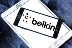 Logotipo de la compañía de electrónica de Belkin Foto de archivo libre de regalías
