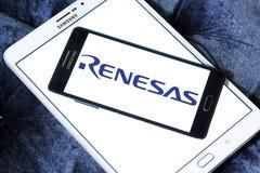 Logotipo de la compañía de electrónica de Renesas foto de archivo libre de regalías
