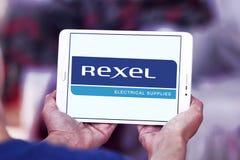 Logotipo de la compañía de electrónica de Rexel foto de archivo libre de regalías