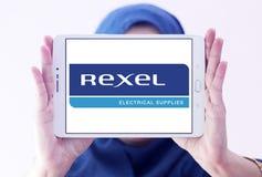 Logotipo de la compañía de electrónica de Rexel imagen de archivo libre de regalías