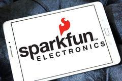 Logotipo de la compañía de electrónica de SparkFun imagen de archivo libre de regalías