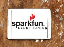 Logotipo de la compañía de electrónica de SparkFun fotos de archivo libres de regalías