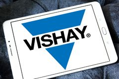 Logotipo de la compañía de electrónica de Vishay imagen de archivo