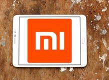 Logotipo de la compañía de electrónica de Xiaomi imagen de archivo