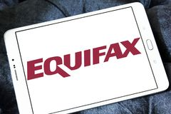Logotipo de la compañía de Equifax foto de archivo