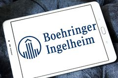 Logotipo de la compañía farmacéutica de Boehringer Ingelheim Fotografía de archivo