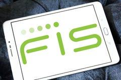 Logotipo de la compañía de FIS imágenes de archivo libres de regalías